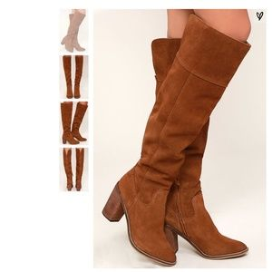 'Steve Madden' Palisade Leather Boots (7.5)